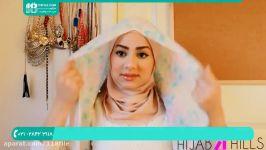 آموزش بستن شال روسری  بستن شال  بستن روسری  روش بستن شال 02128423118
