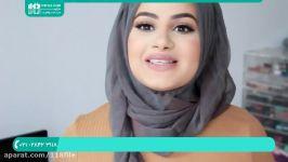 آموزش بستن شال  بستن روسری  مدل بستن روسری  روش بستن شال 02128423118