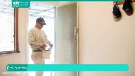 آموزش رنگ آمیزی ساختمان  نقاشی ساختمان  رنگ آمیزی دیوار رنگ آمیزی در