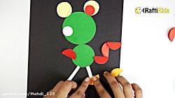 آموزش کاردستی کاغذ برای کودکان  ساختن موش دایره