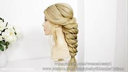 مدل بافت موی زیبا شیک دخترانه برای موهای بلند