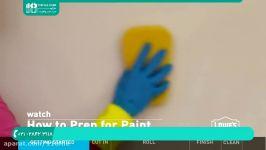 آموزش رنگ آمیزی دیوار  رنگ آمیزی ساختمان  رنگ آمیزی اتاق 28423118 021