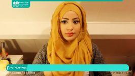 بستن شال سر  بستن شال روسری حجاب  مدل بستن روسری چهارگوش