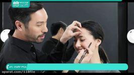 آموزش آرایش صورت  میکاپ صورت  آرایش کامل صورت سایه ابرو