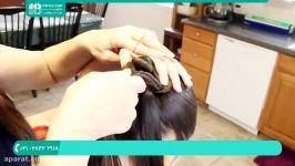 آموزش بافت مو  بافت مو دخترانه  مدل بافت مو بافت دم اسبی28423118 021