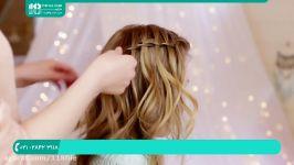 آموزش مدل بافت مو  بافت مو ساده دخترانه بافت مو مدل آبشاری 28423118 021