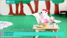 آموزش عروسک سازی  ساخت عروسک خمیری  عروسک خمیر عروسک کیتی