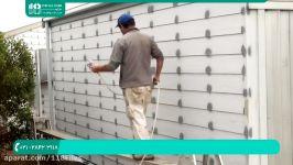 آموزش نقاشی ساختمان  رنگ آمیزی دیوار سقف روش رنگ امیزی دیوارها پیستوله