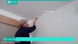آموزش رنگ آمیزی نقاشی ساختمان  رنگ کردن دیوار سقف مراحل رنگ آمیزی سقف