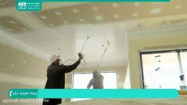 آموزش رنگ آمیزی نقاشی ساختمان  رنگ کردن دیوار سقف رنگ آمیزی پیستوله