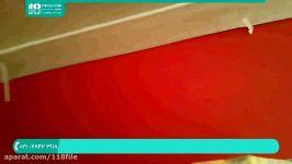 آموزش نقاشی ساختمان  رنگ امیزی خانه رنگ آمیزی سقف پیستوله