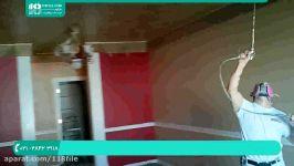 آموزش نقاشی ساختمان  رنگ آمیزی ساختمان  رنگ آمیزی سقفرنگ کردن سقف پیستوله