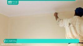 آموزش رنگ آمیزی نقاشی ساختمان  رنگ آمیزی دیوار اتاق رنگ کردن دیوار غلتک