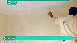 آموزش رنگ آمیزی ساختمان  رنگ آمیزی خانه روش رنگ امیزی دیوار غلتک
