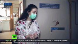 پرستاری سه نوزاد متولد شده را بیمارستان تخریب شده بیروت لبنان نجات داد