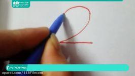 آموزش نقاشی به کودکان  نقاشی کشیدن  نقاشی هنری نحوه نقاشی کردن عدد2