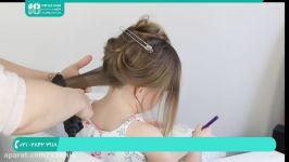 آموزش بافت مو  مدل بافت مو  بافت مو ساده دخترانه بافت مو مدل حلقه ای