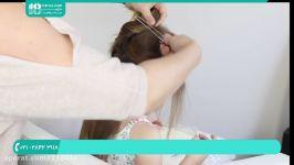 آموزش بافت مو  بافت مو ساده  مدل بافت مو دخترانهبافت موی کودکان مدل حلقه ای