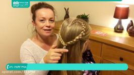 آموزش بافت مو  بافت مو ساده  مدل بافت مو دخترانه بافت موی کودک مدل قلبی