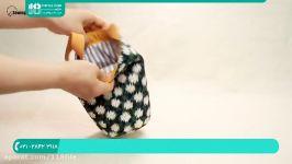آموزش دوخت کیف  دوخت کیف پارچه ای زنانه کیف مخصوص بطری