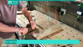آموزش ساخت میز رزین  ساخت میز چوبی  ساخت میز اپوکسی میز کوچک