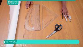 آموزش خیاطی مولر  خیاطی به روش مولر  خیاطی متد مولر الگوی اولیه آستین