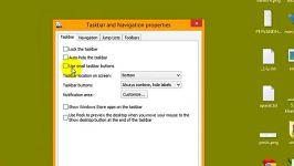 خصوصیات نوار وظیفه نوار جابجایی در ویندوز8 راسخون