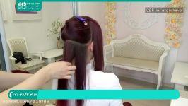 آموزش شینیون مو  شینیون مو باز  شینیون مو کوتاه خطی شینیون حرارتی موی عروس