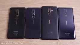 تست سرعت بین گوشی های نوکیا 6، نوکیا 7 پلاس، نوکیا 8 نوکیا X6