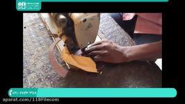 آموزش چرم دوزی  چرم دوزی دست  هنر چرم دوزی ساخت صندل چرم