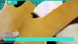 آموزش چرم دوزی  چرم دوزی دست  هنر چرم دوزی ساخت یک کیف کمری برای کلت