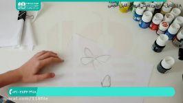 آموزش نقاشی  نقاشی روی پارچه نقاشی روی لباس کفشنقاشی ببر پروانه روی تیشرت