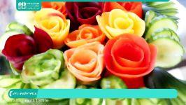 آموزش سفره آرایی  تزئین سفره  میوه آرایی  تزئین غذا ایده تزئین سالاد