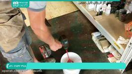 آموزش ساخت میز رزین  ساخت میز چوبی  میز رزینی میز بیضی شکل