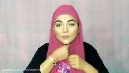 آموزش حجاب بدون کلاه درونی حجاب نوعی پارچه ابریشمی  سبک حجاب راحت تابستانی