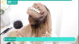 آموزش شینیون مو  شینیون مو کوتاه بلند  شینیون مو خطی شینیون مو کاغذی عروس