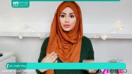 آموزش بستن شال روسری  روش بستن شال سر شیک ترین مدلهای بستن شال