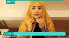 آموزش بستن شال روسری  روش بستن شال سر سبک های مختلف بستن شال حجاب