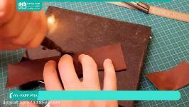 آموزش چرم دوزی  هنر چرم دوزی  چرم دوزی دست کیف پول02128423118