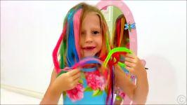 ماجراهای ناستیا استیسی رنگی شدن موهای ناستیا بازی ناستیا استیسی