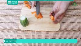 آموزش سفره آرایی تزئین سفره تزئین غذا میوه آراییتزئین بشقاب خیار سبز هویج