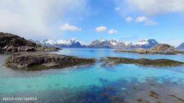 تصاویر هوایی پهپاد مناظر زیبای جزایر لوفوتن  نروژ