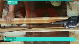 آموزش ساخت میز رزین  ساخت میز چوبی  ساخت میز اپوکسی تیز کردن لبه میز چوبی