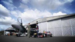 مسابقه خودروی فرمول 1 جنگنده f18 هورنت
