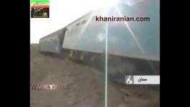 قطار مسافربری مشهد  تهران در ایستگاه بکران شاهرود ا