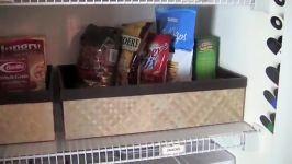 مرتب کردن کمد خوراکیها ظرفها