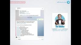 آموزش ساخت ربات تلگرام  بات تلگرام  بازاریابی تلگرام