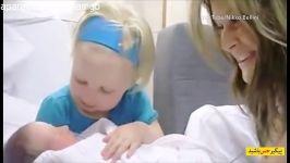 واکنش کودکان به نوزاد تازه متولد شده