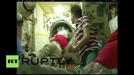 استقبال فضانوردان جدید در ایستگاه فضایی بین المللی