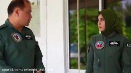 شهادت دلخراش خلبان زنِ جنگنده درسانحه پروازی سقوط جتF 7
